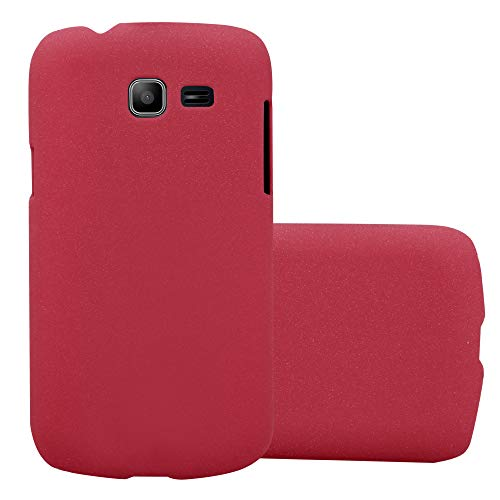 Cadorabo Custodia per Samsung Galaxy Trend Lite in Frosty Rosso - Rigida Cover Protettiva Sottile con Bordo Protezione - Back Hard Case Ultra Slim Bumper Antiurto Guscio Plastica