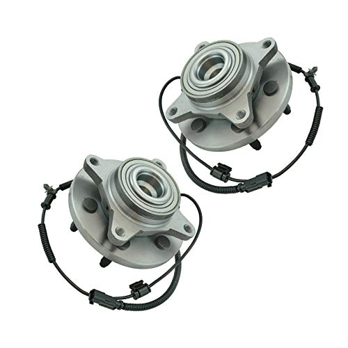 TRQ Front Wheel Bearing & Hub Assembly Pair for 2011-2014 Ford Expedition / 2011-2014 F150 Pickup Truck / 2011-2014 Lincoln Navigator/Rear Wheel Drive Models Only