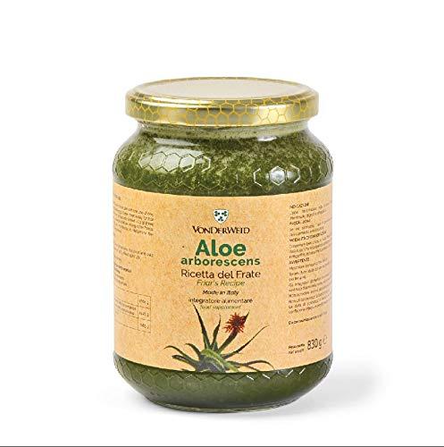 Vonderweid - Aloe Arborescens Ricetta di Padre Zago, Integratore Alimentare, Vaso di Vetro, 830g