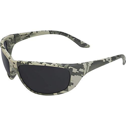 Global Vision Hercules 6 occhiali di sicurezza con montatura digitale mimetica e lenti fumo ANSI Z87.1+