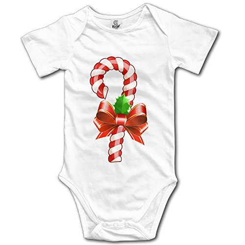 XIONGER Candy Cane Christmas Cute Baby Onesie Bodysuit Outfits