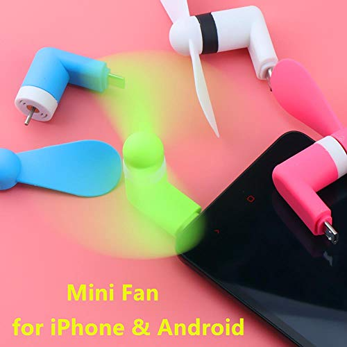 Micro USB Fan Flexibele Mini Fans Cooler Cellphone Hand Fan voor Samsung Xiaomi Android Telefoon Fan voor iPhone 5 6 6s 7 Plus 8 X XR