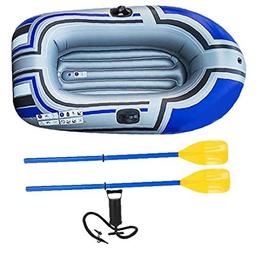 Hainice Barco Inflable PVC 1 Persona Pesca Plegable portátil de la Pesca de la Pesca de la Cadena de la Deriva del Kayak con los pastillos del inflador