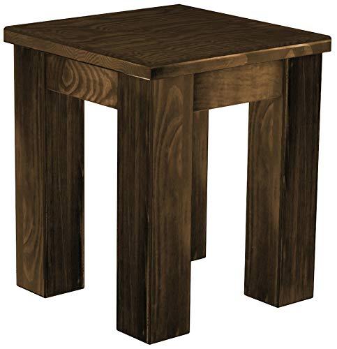 Brasilmöbel Hocker Rio Classico Eiche antik Pinie Massivholz Esszimmerbank Küchenbank Holzbank - Größe und Farbe wählbar