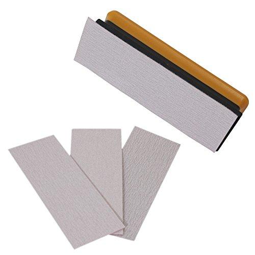 Bigman(ビッグマン) 日本製 マジックテープ式 MS-50 平面型紙ヤスリホルダーセット 紙ヤスリ #80#120#240 各1枚入り 紙やすり サンドペーパー 研磨 セット
