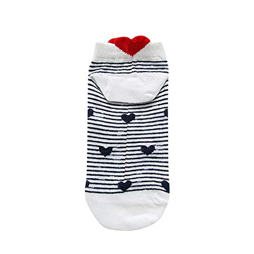 Lazzboy Damen Unsichtbare Sneaker Socken - Baumwolle Kurz Sport Socken Anti-Rutsch Füsslinge für Loafers Bootsschuhe (D)