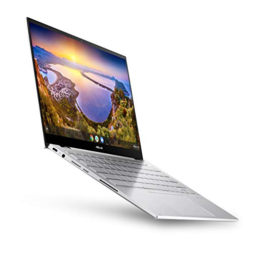 "ASUS Chromebook Flip C436 2-in-1 Laptop, 14"" Touchscreen FHD 4-Way NanoEdge, Intel Core i3-10110U, 128GB PCIe SSD, Fingerprint, Backlit KB, Wi-Fi 6, Chrome OS, Magnesium-Alloy, Silver, C436FA-DS388T"