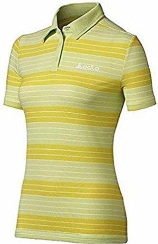 Odlo Polo Shirt Stripes SS Custom, Couleur Jaune, Taille m