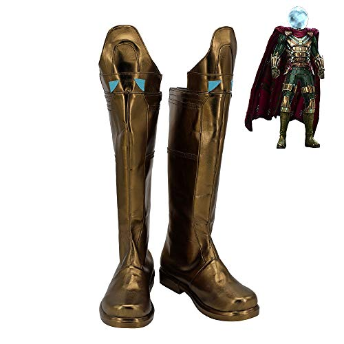Mysterio Shoes Cosplay Quentin Beck Spider-Man Far From Home Hombres Botas 48 Tamao femenino