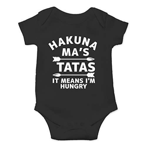 Hakuna Ma's Tatas It Means I'm Hungry – Película Parody Funny Saying – Mono de una sola pieza para bebé - Negro - recién nacido