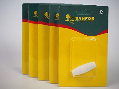 Sanfor 80678 TV-kabel, recht, 9,5 mm, R-3160 wit (5 verpakkingen à 5 stuks) Box 25 stuks