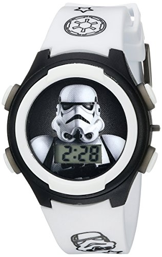 Star Wars Kids' STM3488 Digital Display Analog Quartz White Watch