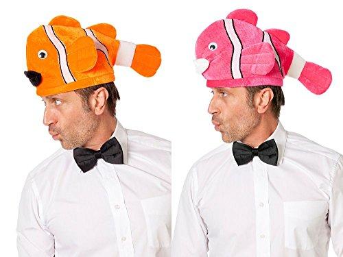 Wilbers Cappello a forma di pesce pagliaccio, arancione o rosa