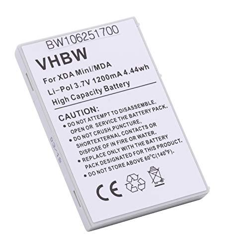 vhbw Akku passend für Dopod, HP IPAQ, HTC, O2 XDA, Qtek, T-Mobile MDA Compact, Vodafone VPA Handy, Telefon ersetzt FA404A (1200mAh, 3.7V, Li-Polymer)