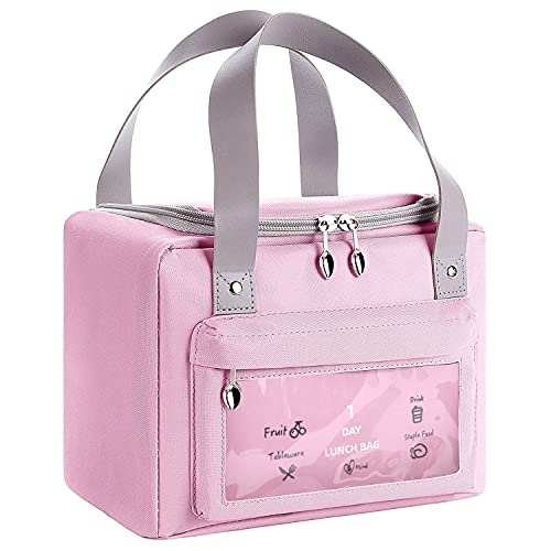 borsa termica rosa Borsa Termica Porta Pranzo Portatile Borsa Piccola Frigo da Picnic Borsa da Picnic Borsa Isotermica da Pranzo per Bambino