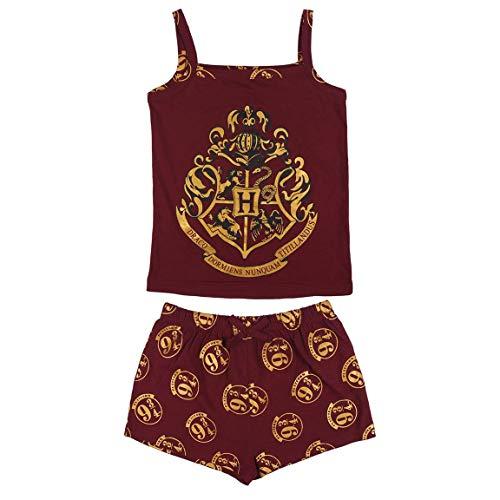 Characters Cartoons Harry Potter – Pijama completo para niña – Conjunto de camiseta y pantalón – Primavera Verano – Producto original 7000 Rojo 10 años