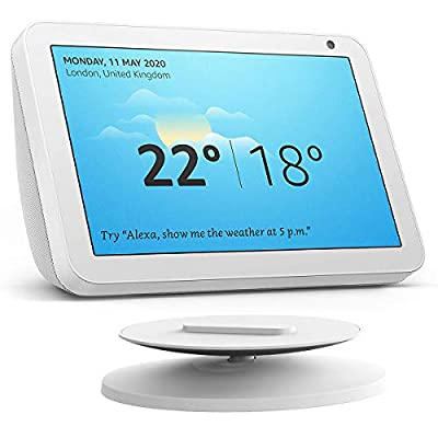 Nestdo for Echo Show 8 Adjustable Stand & Echo Show 5 Adjustable Stand with Non-slip Base (White) from Nestdo