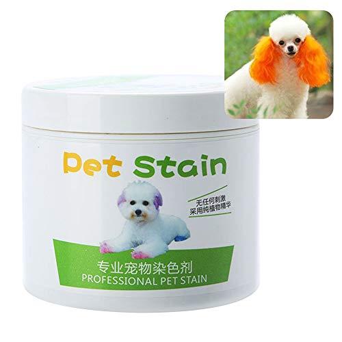AchidistviQ 100 ml professionelle Haustierflecken, anti-allergische Katzen- und Hundehaarfarbe, Creme-Färbemittel, Hundehaarpflege, verblasste Haarfarbe, Samba Orange