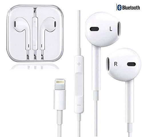 Amzuun Auricolari Cuffie con Microfono Stereo per iPhone XS Max, XS, X, 8,7/8 Plus, 7 Plus,11,11 Pro, 11 Pro Max