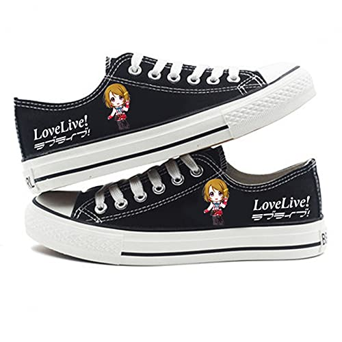 Q4S Love Live Nuevos Zapatos De Primavera para Hombres Y Mujeres, Zapatos De Lona, Todos Los Partidos, Zapatos De Tablero De Tendencia Informal para Hombres, Zapatos Individuales De Moda,40