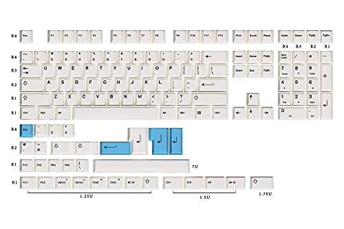 Preisvergleich Produktbild HK Gaming Farbsublimationstastenkappen / Cherry Profil / Dicke PBT Keysets für mechanische Tastatur (139 Tasten,  Bow)