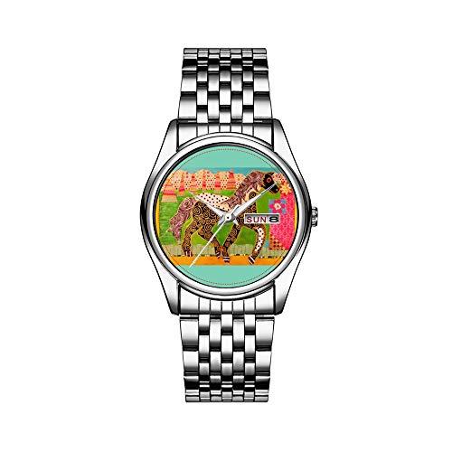 Reloj de lujo para hombre, 30 m, resistente al agua, fecha, reloj deportivo, reloj de pulsera para hombre, de cuarzo, casual, regalo, correa de piel negra, con grasa, caballo