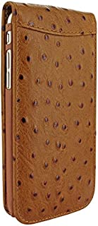Apple iPhone 6/6s Plus Piel Frama 689 Tan Ostrich Magnetic Leather Cover