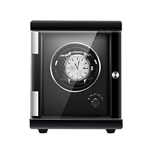 KHUY Caja giratoria para relojes automáticos, caja de reloj giratoria para mujer, caja de regalo, motor extremadamente silencioso (tamaño : 1 reloj, color: negro)