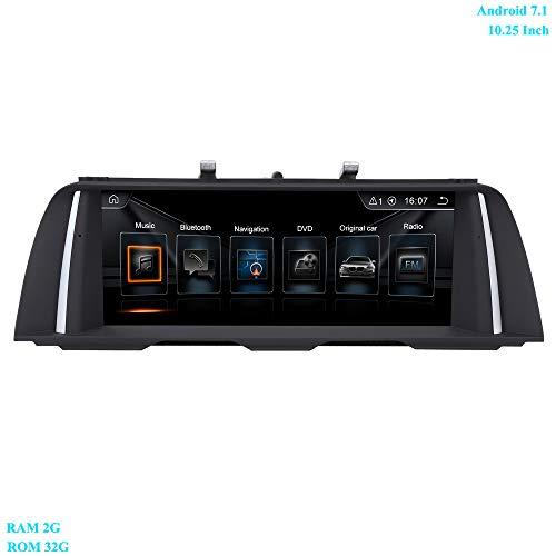XISEDO 10.25 Zoll Bildschirm Android 7.1 RAM 2G ROM 32G 4-Core Autoradio Moniceiver mit GPS Navi WiFi Lenkradkontrolle Android Radio für BMW 5 Series F10/ F11(2011-2012) Ursprüngliches CIC-System