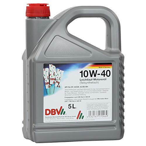 5 Liter DBV 10W-40 / DBV-Leichtlauf-Motorenöl (teilsynthetisch)