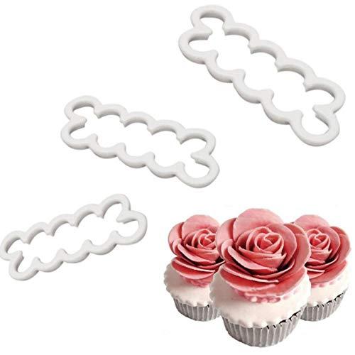 xiaobobo 3 Teile/Satz 3D Kuchen Einfachste Rosenblatt Ausstecher Form Fondant Icing Fondant Dekorieren Form Keks Ausstecher Werkzeuge, Tschechische Republik