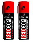 Newish Metal Powerful Pepper Spray Self Defence for Women (35 gm / 55 ml) (Red, Pack of 2)