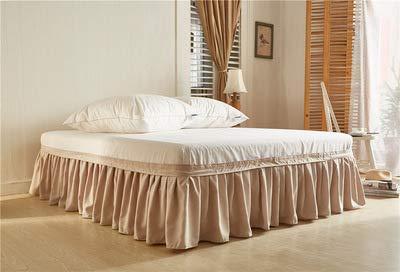 LIUL Hotelbett Rock Polyester Einfarbige Tagesdecke ohne Bettoberfläche Für King Queen Size Bettlaken Dekor, perlgrau, US-Twin 99x190x40cm