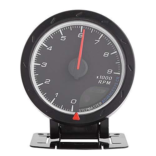 Tacómetro LED de 52 mm 9000 RPM, cambio de autómetro de manómetro digital RMP con retroiluminación LED para coche de carreras 12V