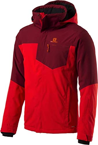 Salomon Strike Jacket Herren Funktions Skijacke Fiery red Biking red Grösse L