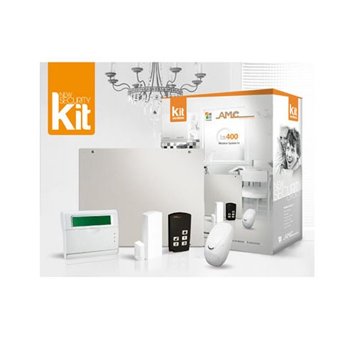 KIT antifurto Wireless completo di centrale con 2 aree 40 zone radio AMC 400