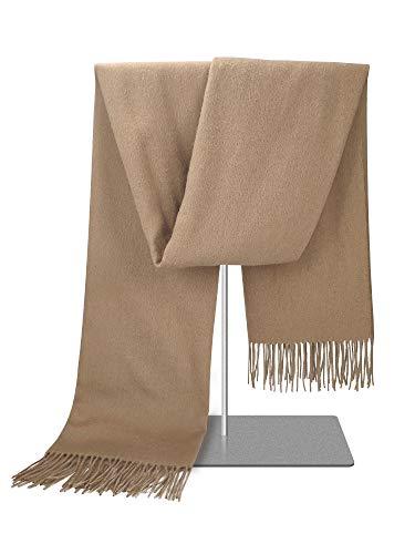 Woolen Bloom Bufandas Mujer Invierno Color Sólido Reversible Bufanda Lana Chal Grueso Cálida Grande Larga para Mujer