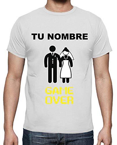 latostadora - Camiseta Despedida de para Hombre Blanco S