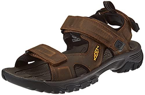 KEEN Men's Targhee 3 Open Toe Hiking Sport Sandal, Bison/Mulch, 11