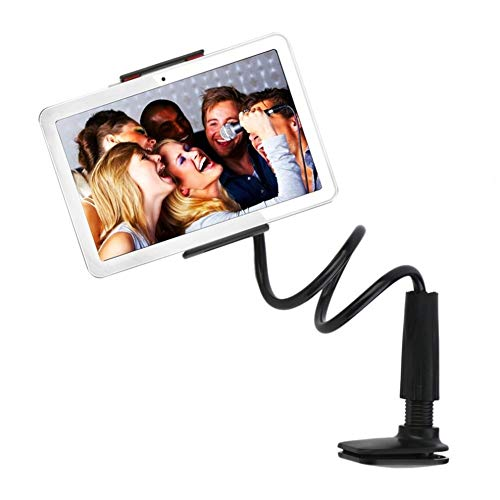 zhoufeng 360 Rotating Flexible Lazy Bed Desktop Phone Tablet Holder Stand Support for Mobile Phone Tablet Computer Drop Shipping To maintain stability (Color : Black)