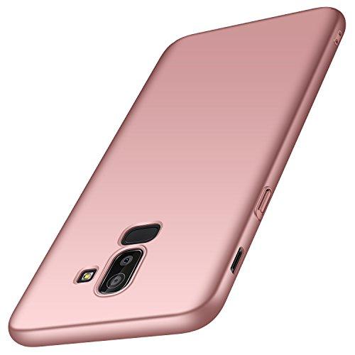 anccer Funda Samsung Galaxy J8 [Serie Colorida] [Ultra-Delgado] [Ligera] Anti-rasguños Estuche para Samsung Galaxy J8 2018 (Oro Rosa Liso)