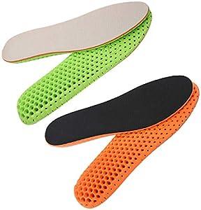 Plantillas elevadoras de altura Liuer 2 Pares Plantillas Elevadora Aumenta Altura Plantillas Alzas De Zapato Invisibles Aumentar Plantilla 2.5CM para Ayudar a Reducir el Dolor en el Talón (EU 41-45)