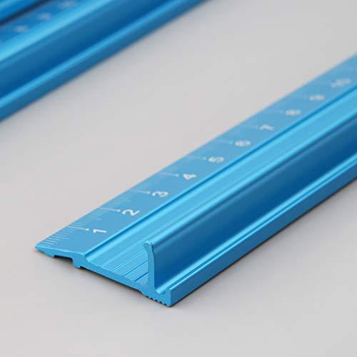 YOUJING Regla de Medida, Regla Recta de aleación de Aluminio Profesional Escala Protectora Ingenieros de medición Herramienta de Dibujo 3 tamaños