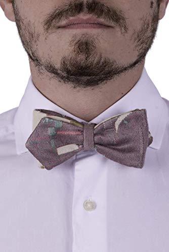 Papillon cravate pré noué pur Hommes et Garçon, Taille Réglable avec Crochet, Vert, Rose, Ivoire, Lilas, Beige, Gobelin, Coton