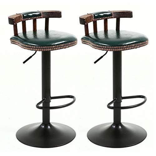 CYLQ Barkruk, in hoogte verstelbaar, kunstleer, barkruk, draaibaar, 5 kleuren, 60-80 cm
