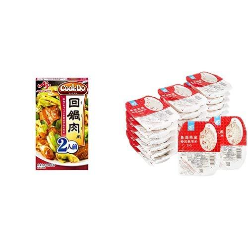 味の素 Cook Do 回鍋肉用 50g×10個 + Happy Belly パックご飯 新潟県産こしひかり 200g×20個(白米) 特別栽培米