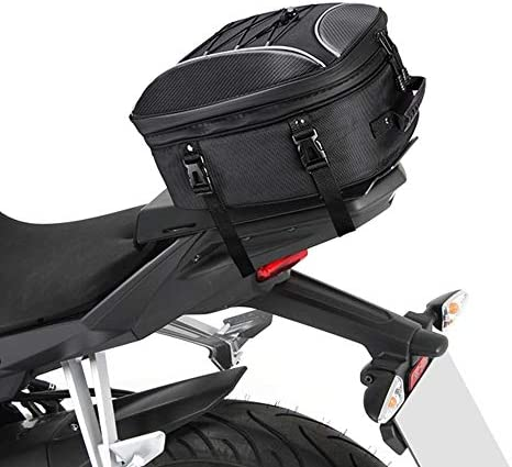 kemimoto Motorcycle Tail Bag Dual Use Motorcycle Seat Bag with Waterproof Rain Cover 30L Expandable product image