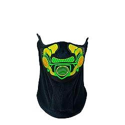 Headset LED Bandana Sound Activated Light Up Costume Mask