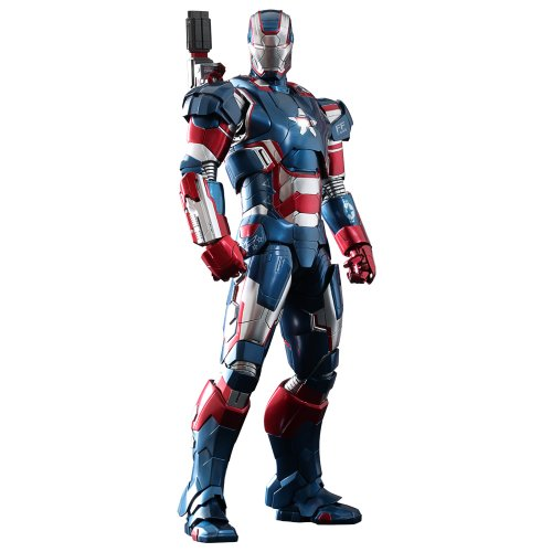 Hot Toys - Figurine - Iron Man 3 - Iron Patriot Limited Edition