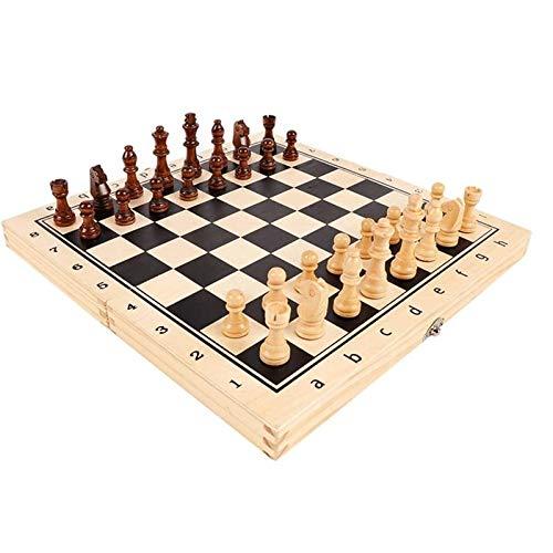 LMDH Conjunto de Juegos de ajedrez, Conjunto de ajedrez Internacional Europeo a Mano, Conjunto de ajedrez Plegable Adecuado para Adultos y niños Regalos y Juegos de Mesa (Size : 39 * 19.5 * 5cm)
